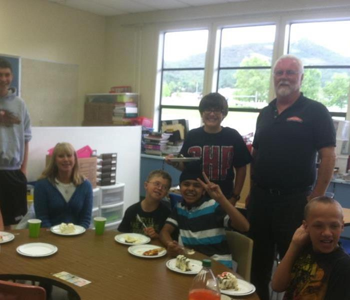 Pizza Party with special needs elementary class