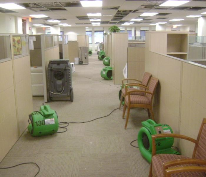 Commercial - Water Damage Office Space