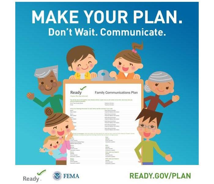 Community September 2017 National Preparedness Month - Make a Plan for Yourself, Family and Friends