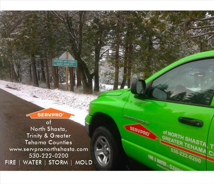 Storm Damage Northern California Freezing Winter Snow Storms and SERVPRO