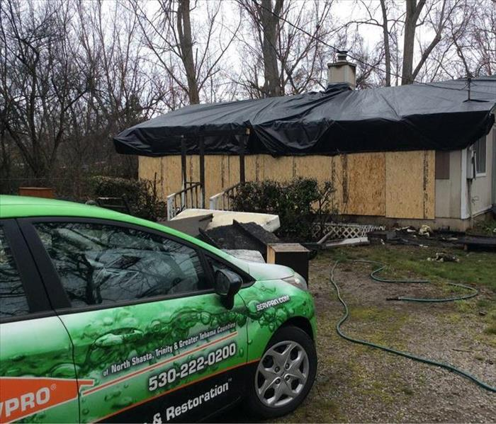 Storm Damage SERVPRO Helps Redding, California residents with Winter Rain and Snow Storm Damage
