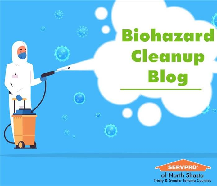 Graphic of Biohazard cleaning